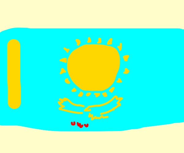 Anthropomorphic Flag of Kazakhstan