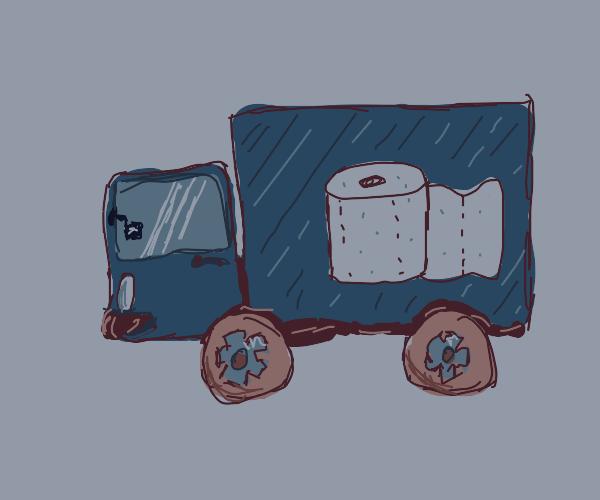 toilet paper truck