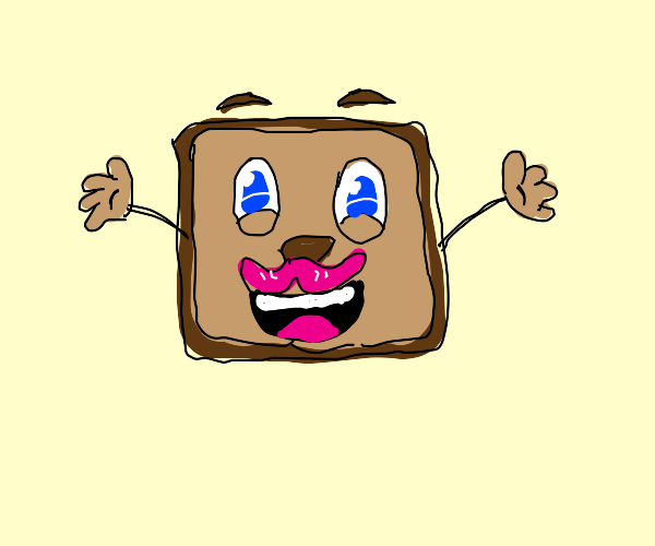 Tiny box Tim with pink mustache! :D