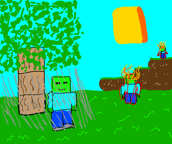Minecraft Zombie discovers Shade