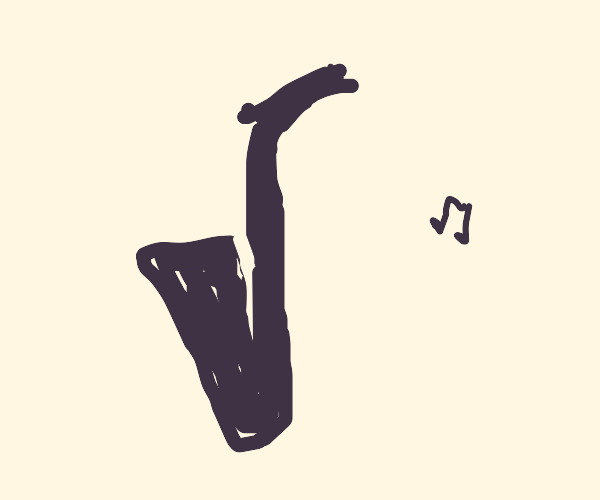 Saxophone drawn in one line