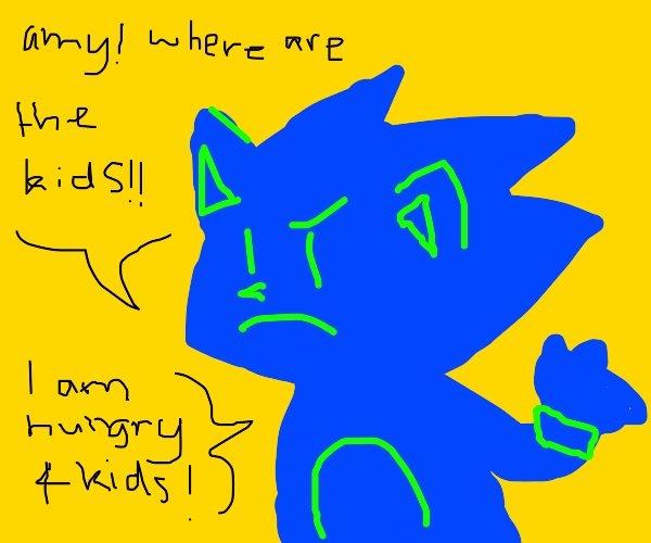 sonic asks amy for the kids he will snack on