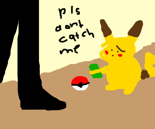Pikachu pays to not be put back in poke ball