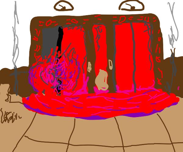 The shining blood scene
