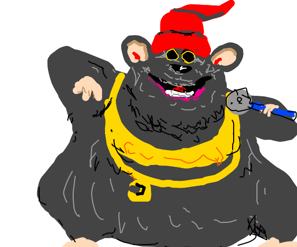 Biggie Cheese just walking in causally. Rap.