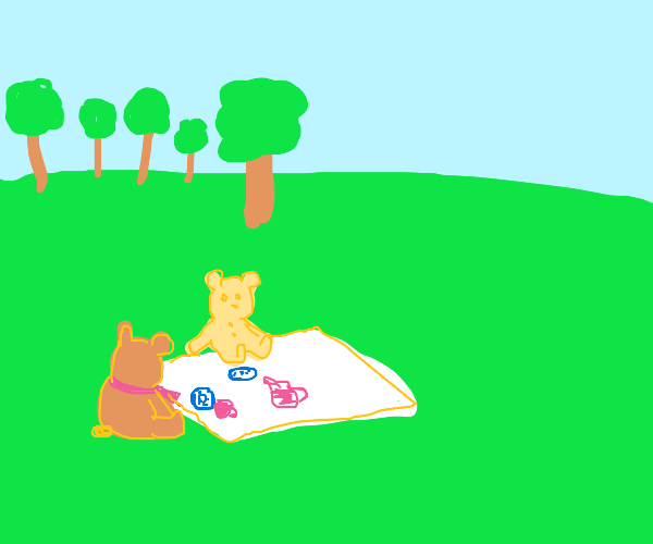 Picnic time for teddy bears