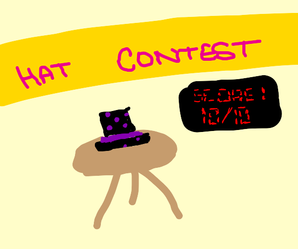 Perfect score in the hat contest