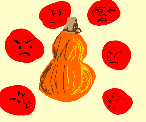 people angry over a squash