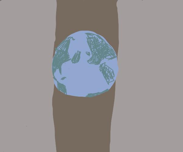 Earth between walls