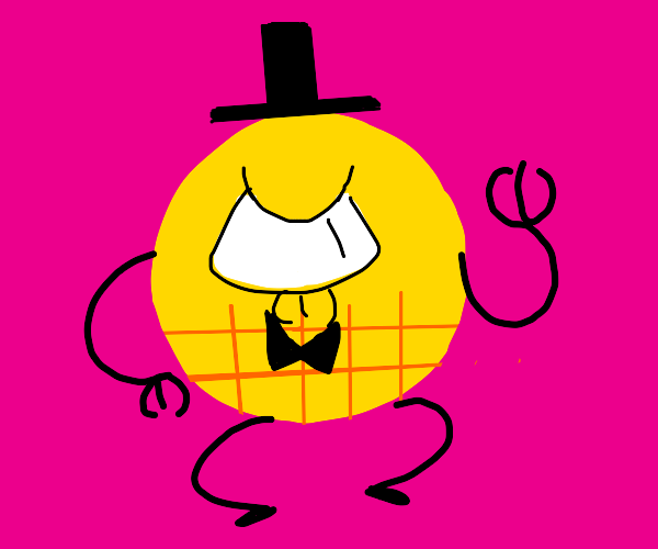 Angry Bill Cipher but hes a circle