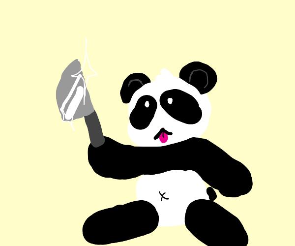 Panda has a knife
