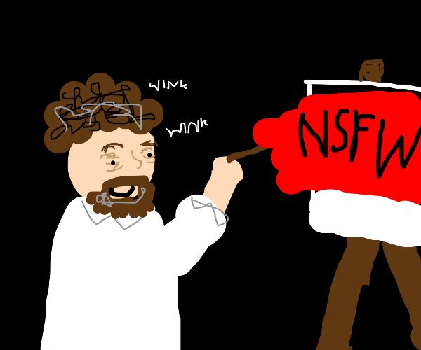 Bob Ross drew nsfw