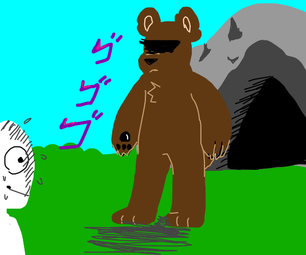 Bear rejects human