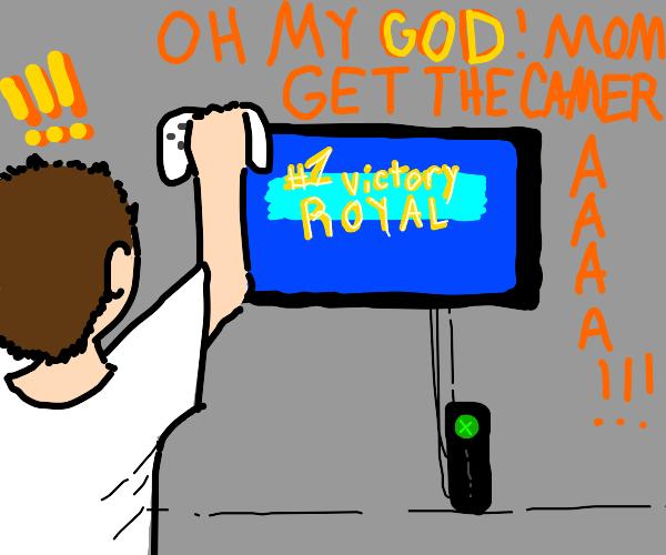 kid wins videogame