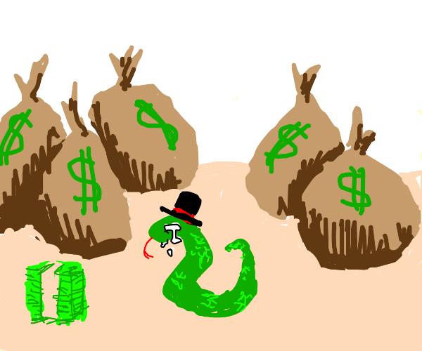 Capitalistic Snake is depressed