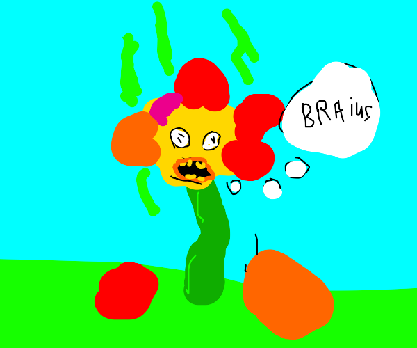 Smelly braineating zombie flower