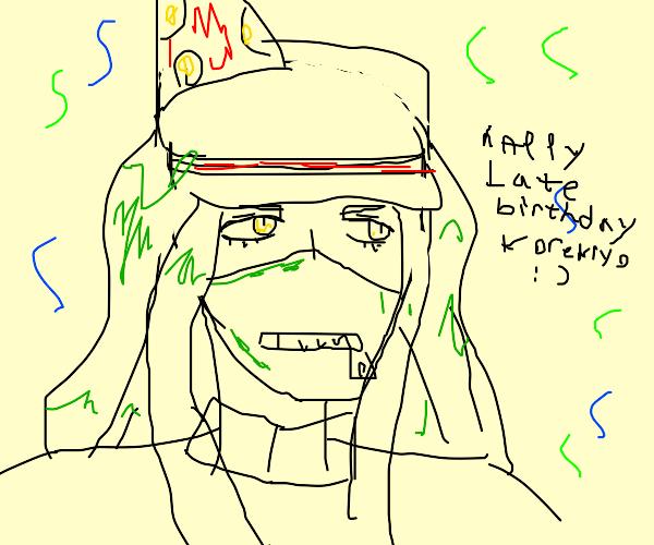 happy late birthday korekiyo (danganronpa)