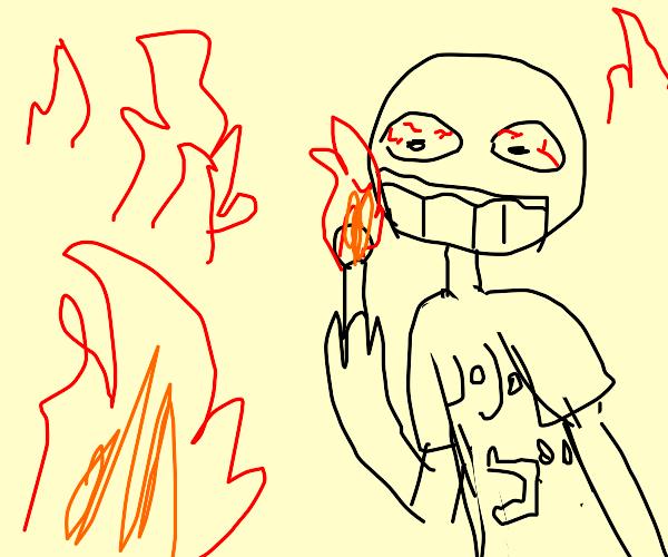 Anime fan is pyromaniac