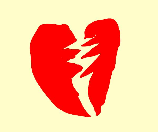 Heart. Broken.