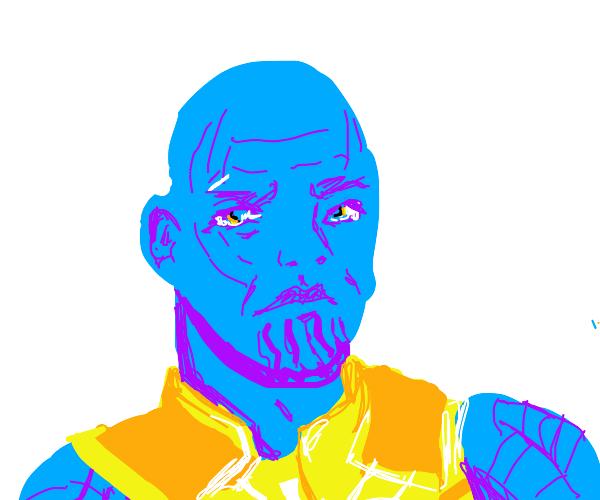 thanos but blue
