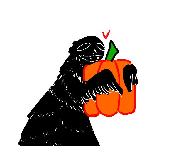 Monster hugs square pumpkin