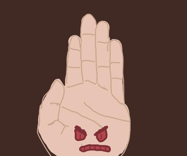 Angry Human Hand