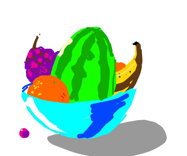 A large bowl of fruit