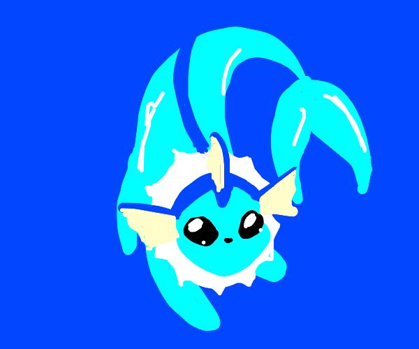 a cute vaporeon
