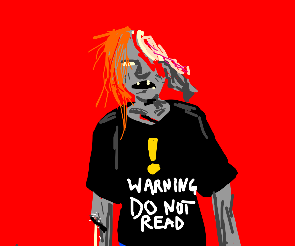 ginger zombie wearing a nice shirt