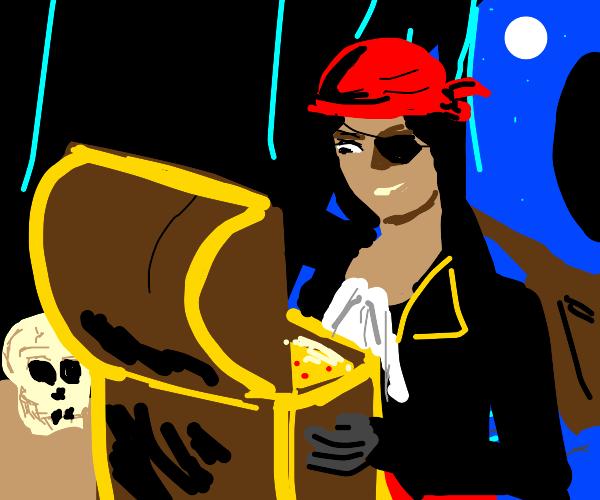 Pirate finds Treasure
