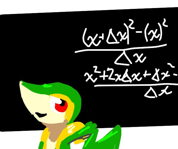 Snivy teaching math