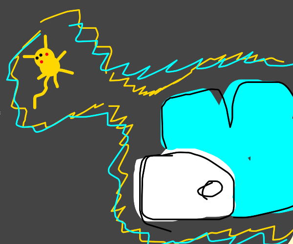 Pikachu shocks Minecraft Snom