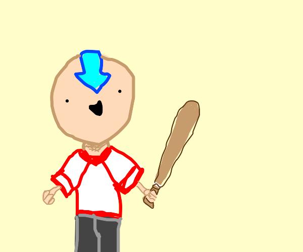 Aang is a baseball player