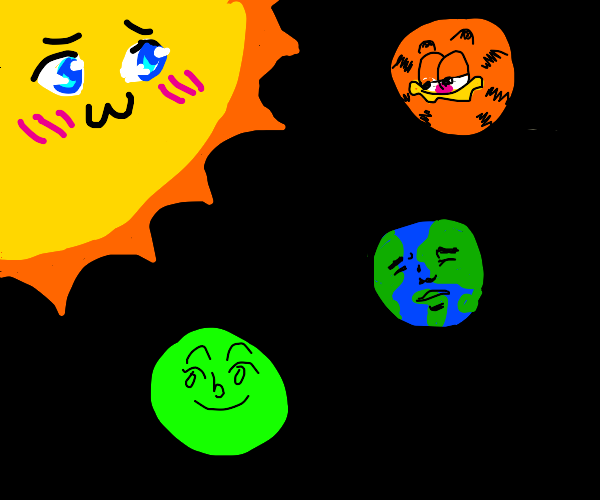 sun in love with other planets