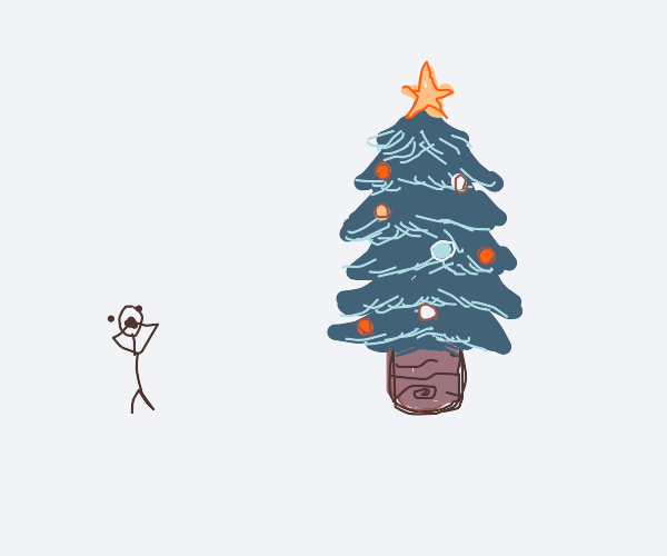 A man screaming on Christmas