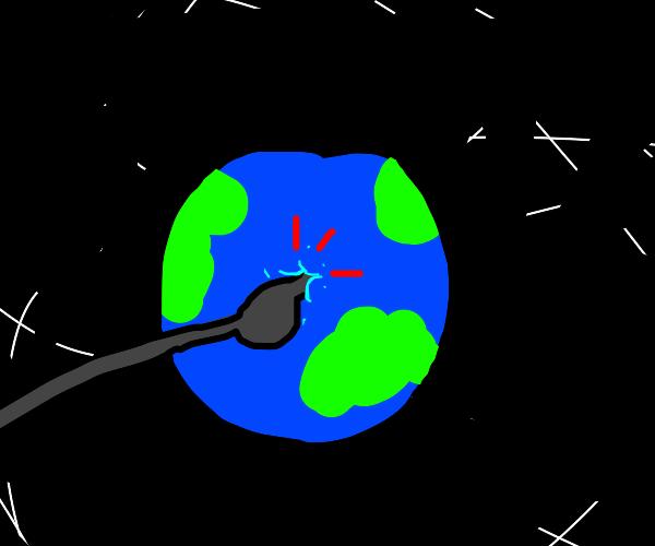 poke the earth