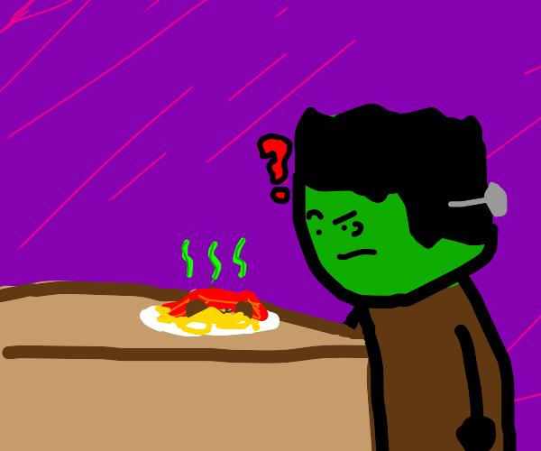 Frankenstein's Monster hates spaghetti