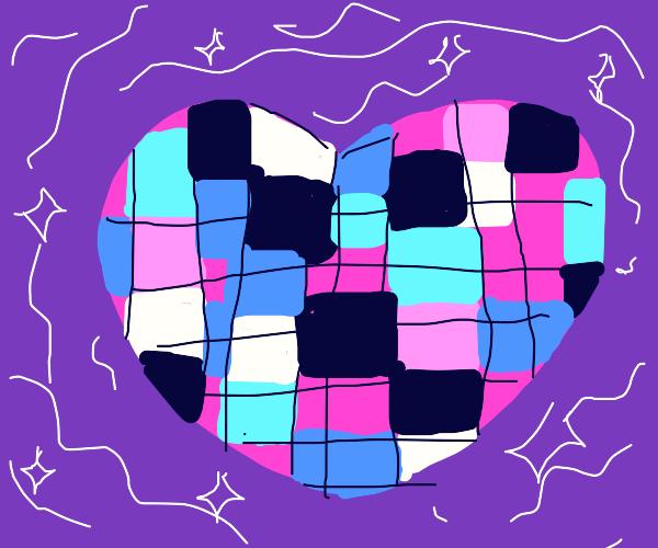 a heart rubix cube