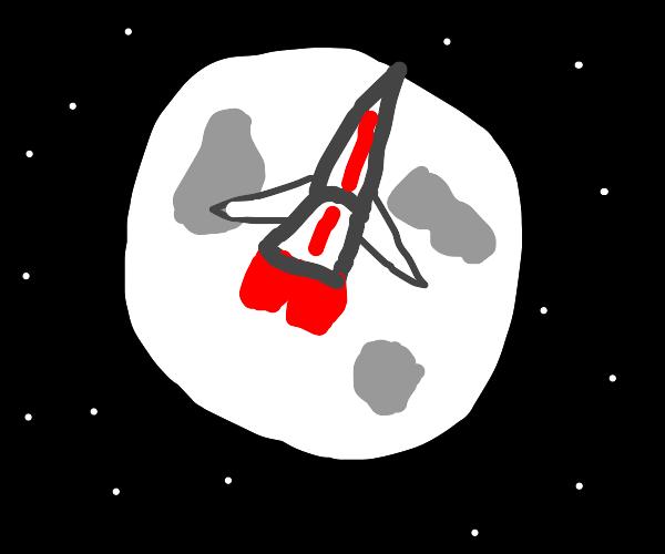 HUGE rocket on the moon