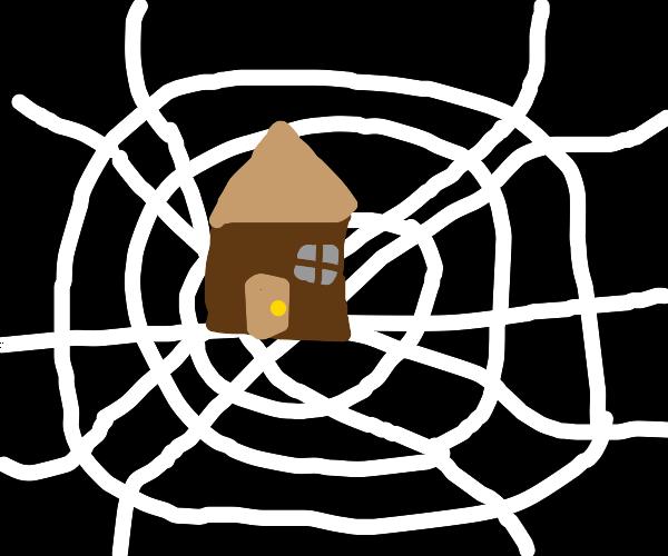 house on a web