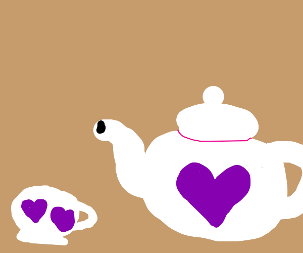 Teacup with hearts