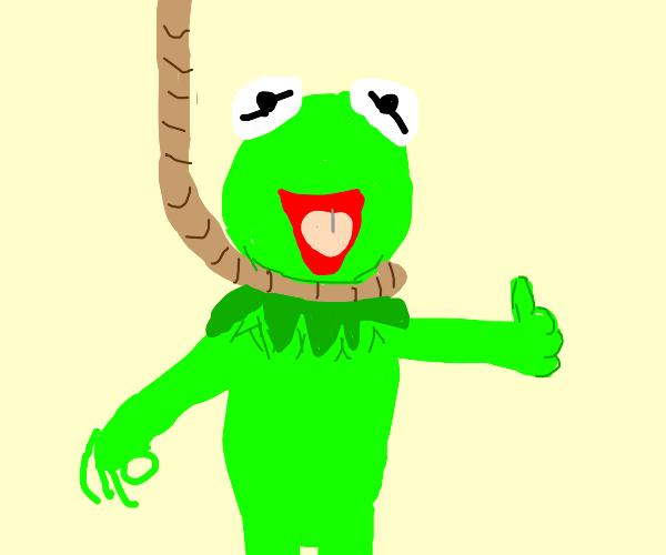 Frog killing himself