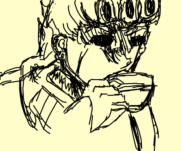 giorno, dont drink that cup- oh no