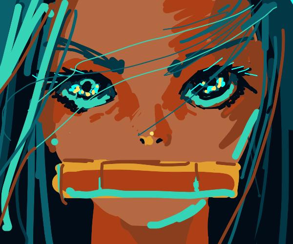 Nezuko's face close up
