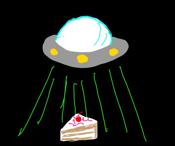 Abducting cake
