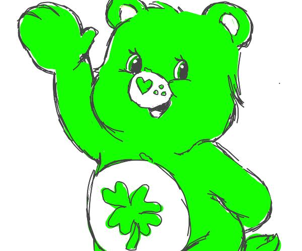 Green care bear