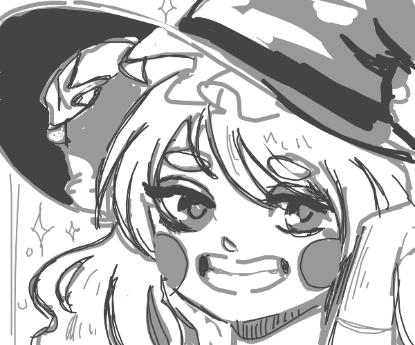 happy young witch