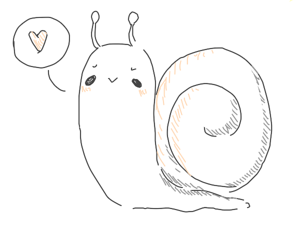the cutest snail you ever did see