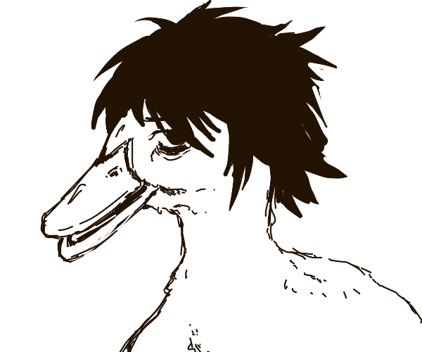 L (Death Note) but a duck
