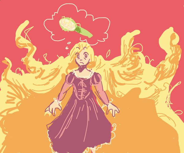 Rapunzel can't find a hairbrush